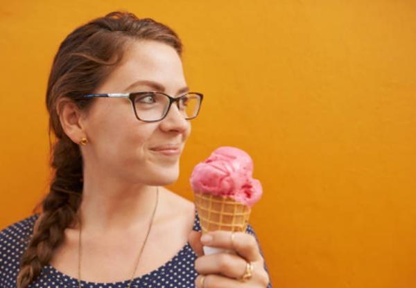 helado de fresa natural